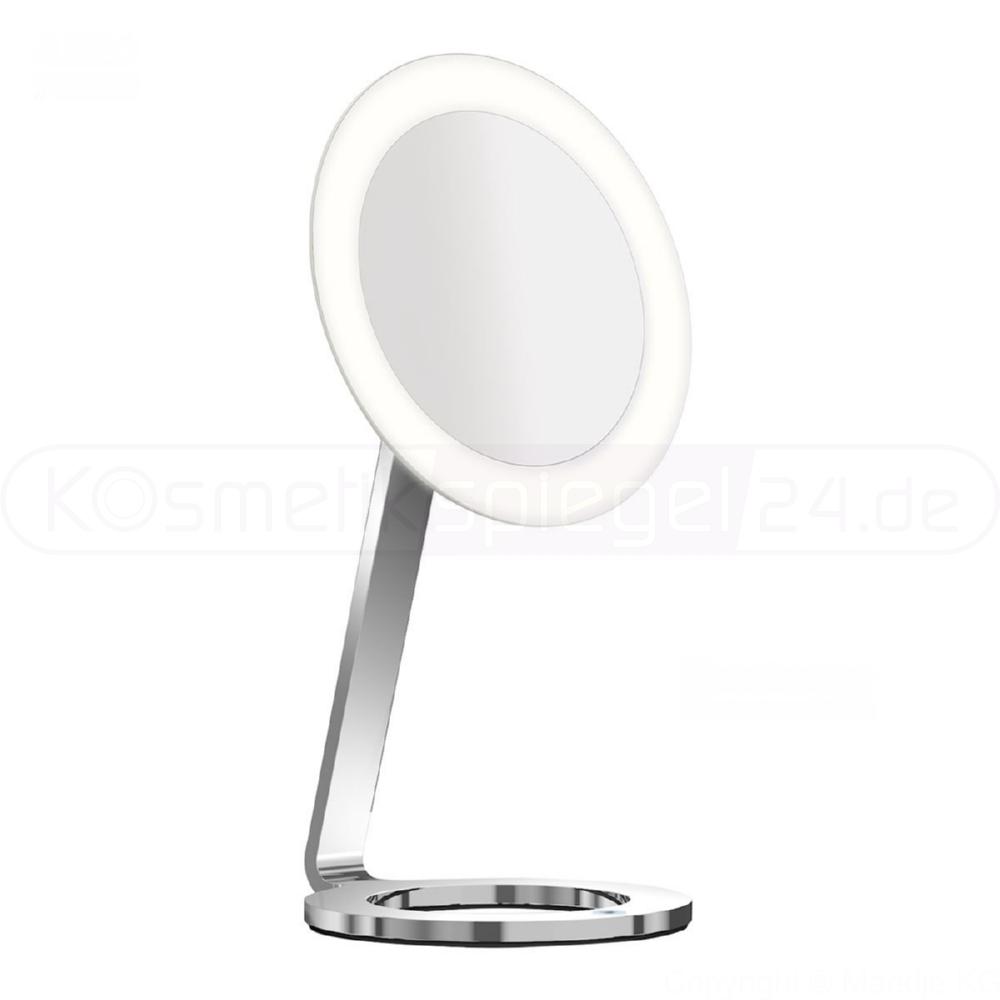 kosmetikspiegel online kaufen maedje kg aliseo 020759 stand led kosmetikspiegel moon. Black Bedroom Furniture Sets. Home Design Ideas