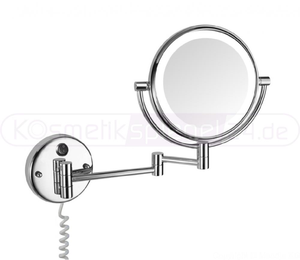 wand kosmetikspiegel beleuchtet deusenfeld wled52 led doppel wand
